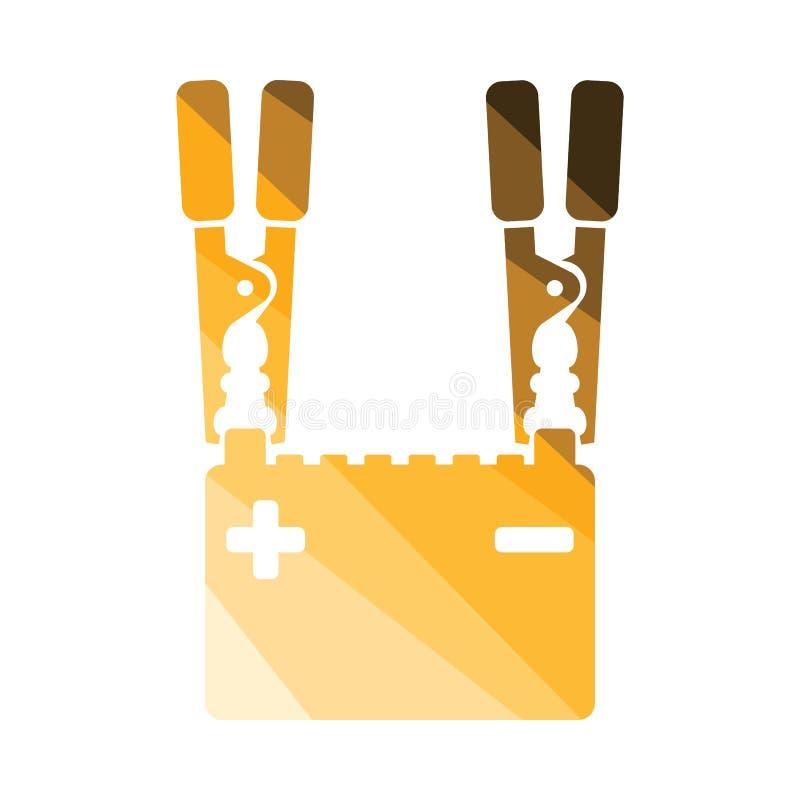 Symbol f?r laddning f?r bilbatteri royaltyfri illustrationer