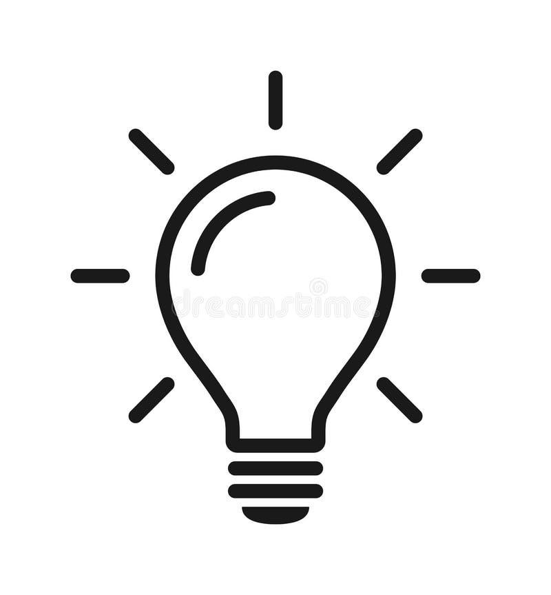 Symbol f?r ljus kula vektor illustrationer