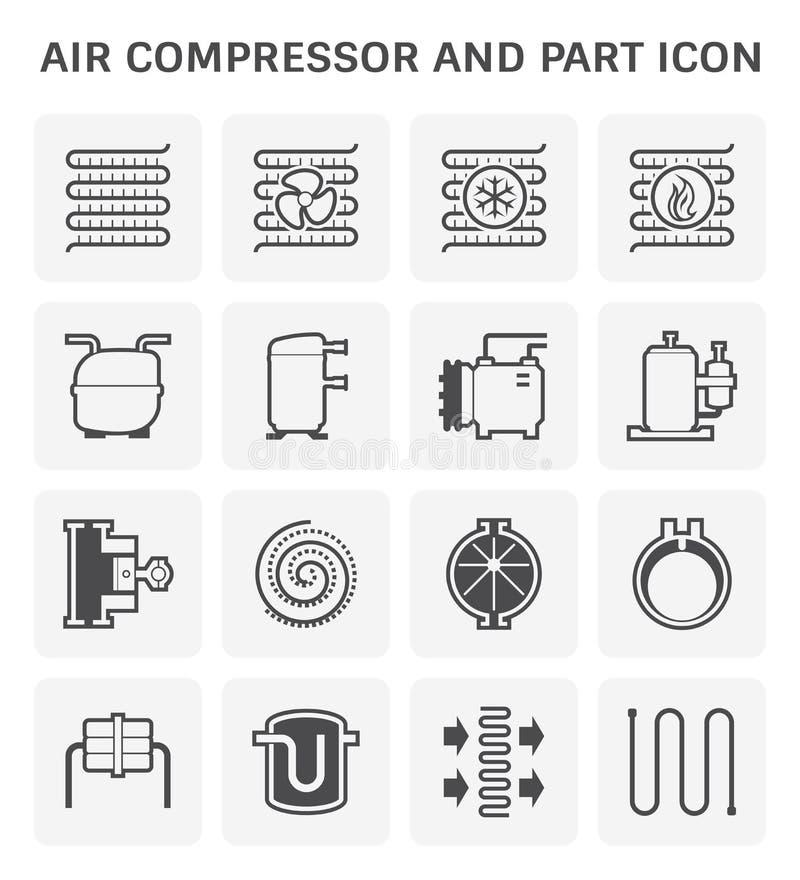 Symbol f?r luftkompressor royaltyfri illustrationer