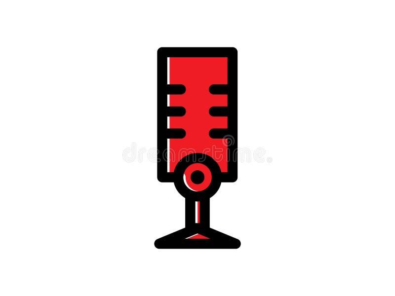 Symbol f?r mikrofonf?rgvektor royaltyfria bilder