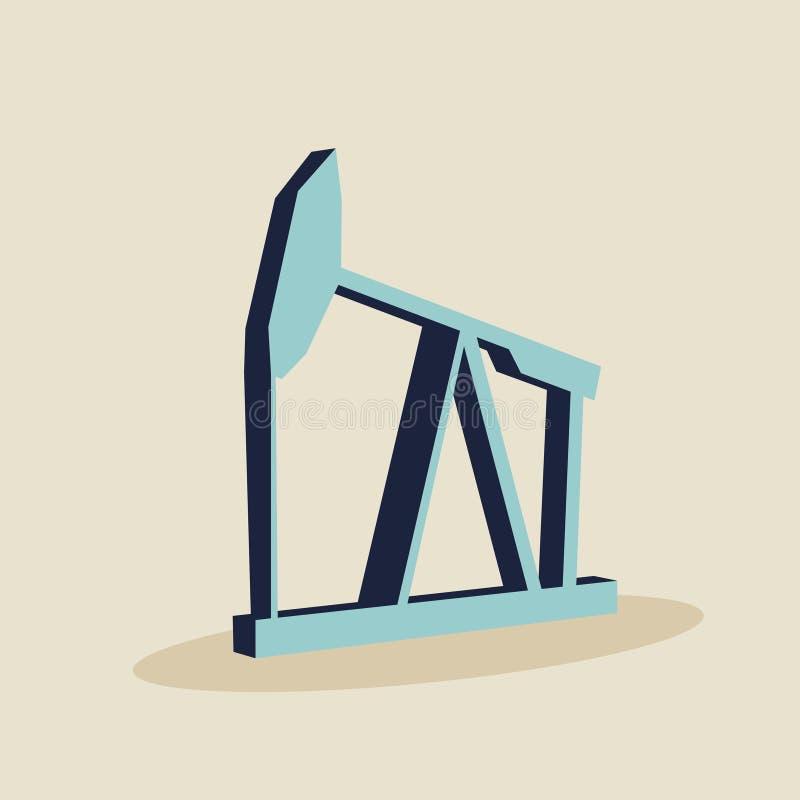 Symbol f?r olje- pump vektor illustrationer