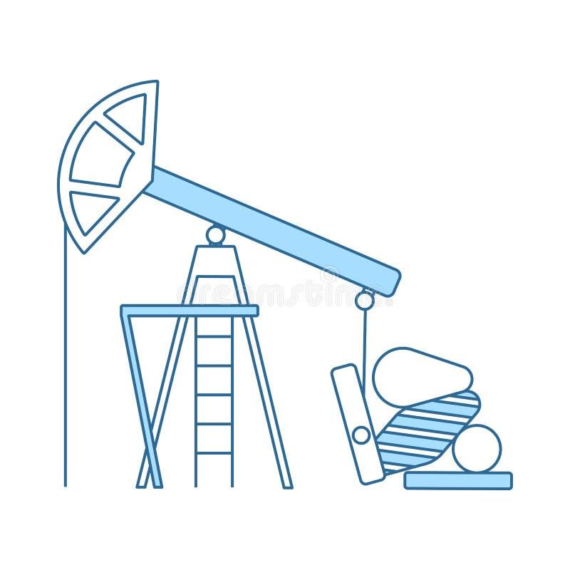 Symbol f?r olje- pump royaltyfri illustrationer
