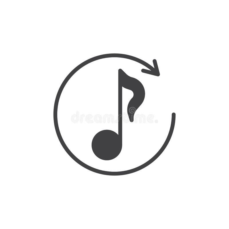 Symbol f?r omspelmusikvektor stock illustrationer