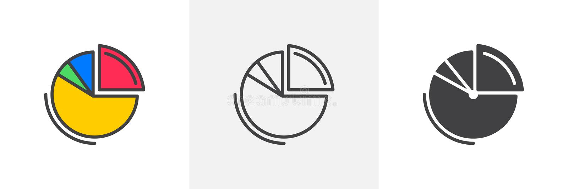 Symbol f?r pajdiagram royaltyfri illustrationer