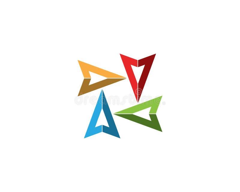 Symbol f?r pilvektorillustration royaltyfri illustrationer