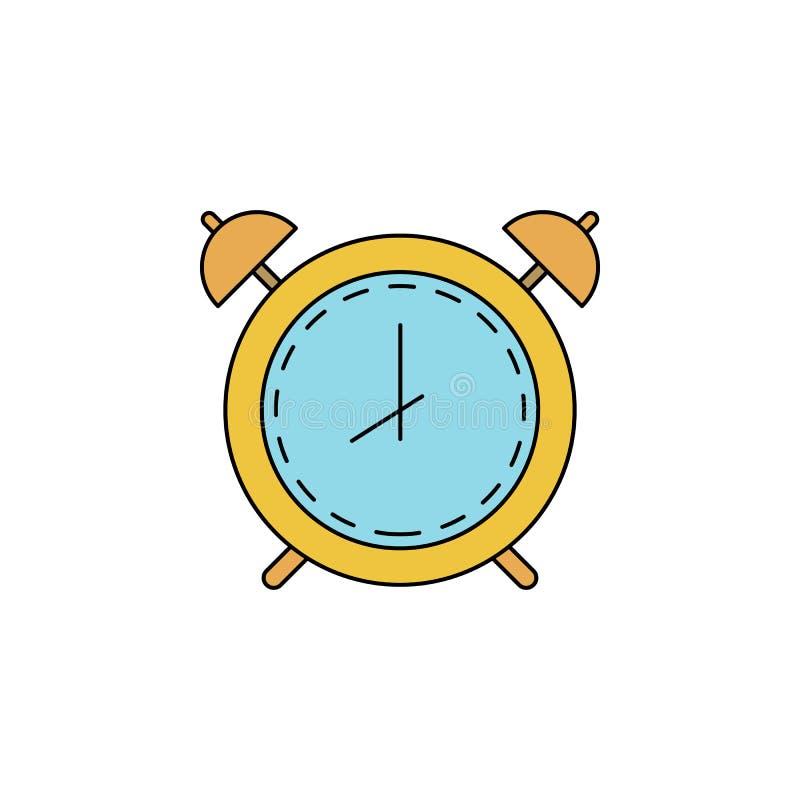 symbol f?r ringklocka?versiktsf?rg stock illustrationer