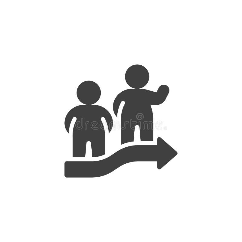 Symbol f?r teamworkfolkvektor vektor illustrationer