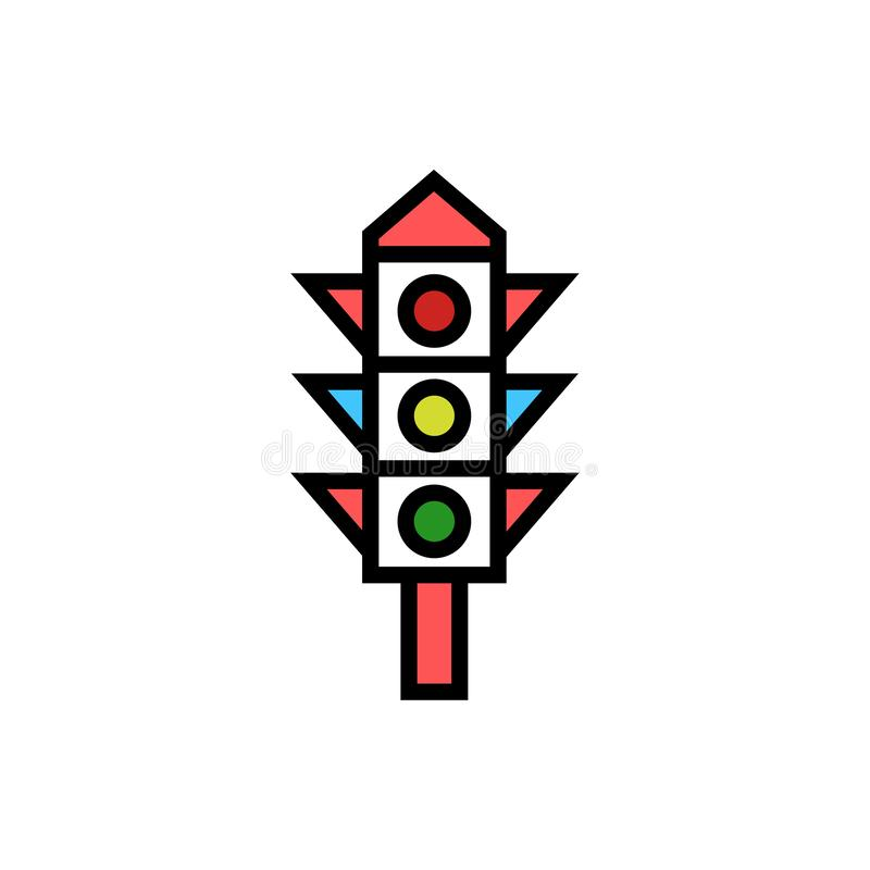Symbol f?r tecken f?r trafikljussymbolsvektor royaltyfri illustrationer