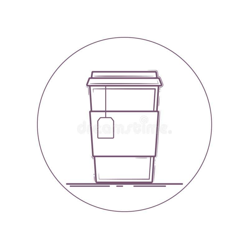 Symbol f?r tekopp stock illustrationer
