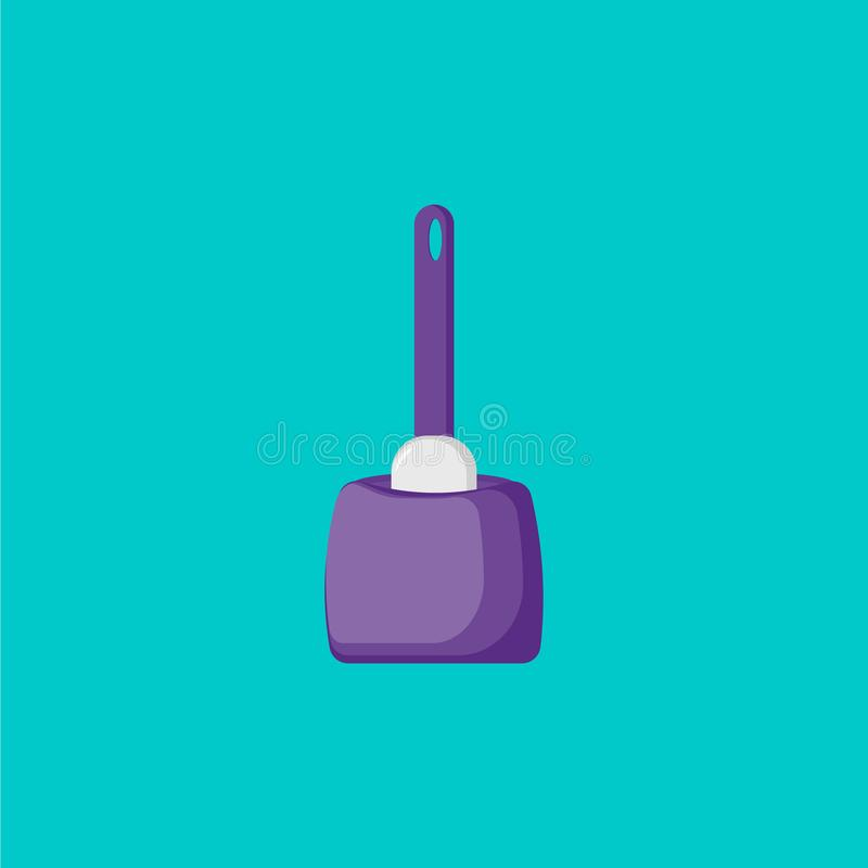 Symbol f?r toalettborstetecknad film Symbolsborste vektor illustrationer