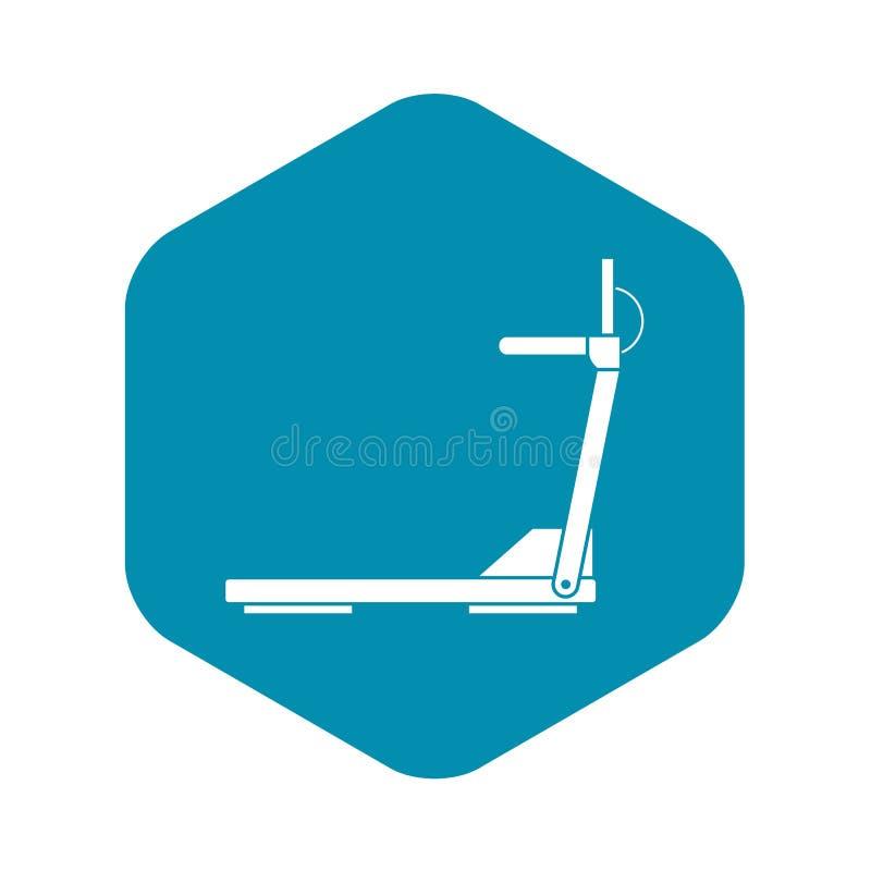 Symbol f?r utrustning f?r v?g f?r sporttrampkvarn rinnande stock illustrationer