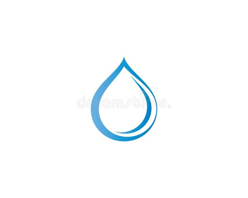Symbol f?r vattendroppvektor royaltyfri illustrationer