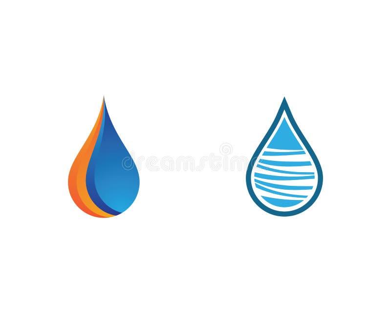 Symbol f?r vattendroppvektor stock illustrationer