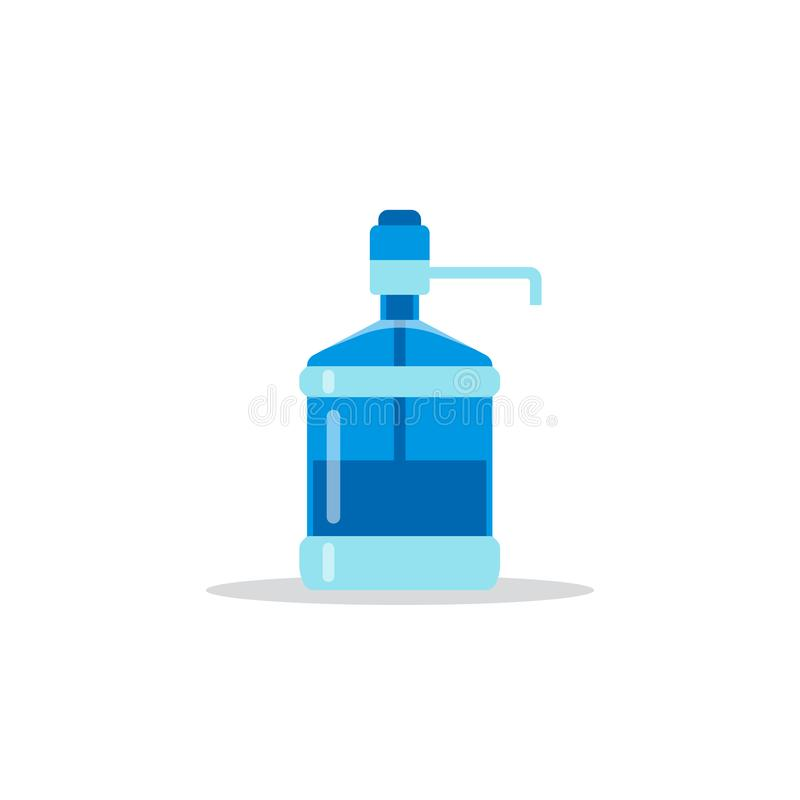 Symbol f?r vattenflaska vektor illustrationer