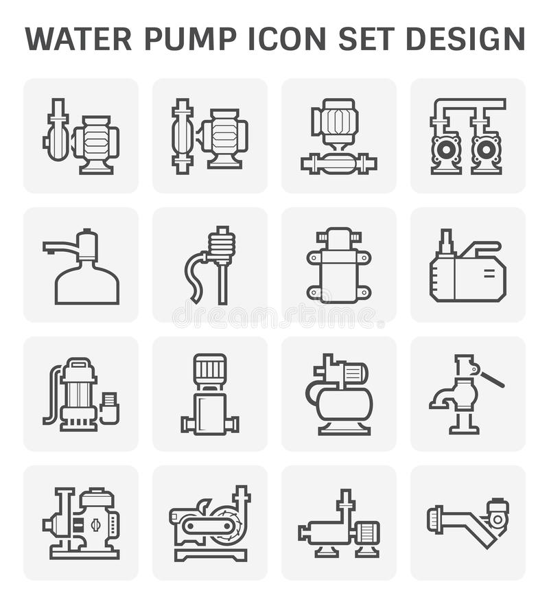 Symbol f?r vattenpump vektor illustrationer