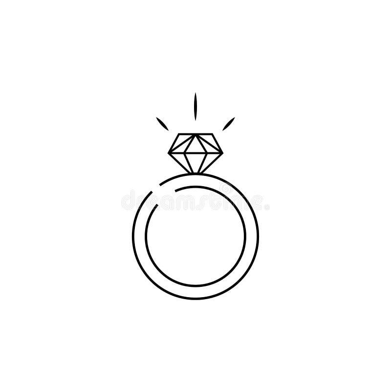Symbol f?r vektor f?r diamantcirkel vektor illustrationer