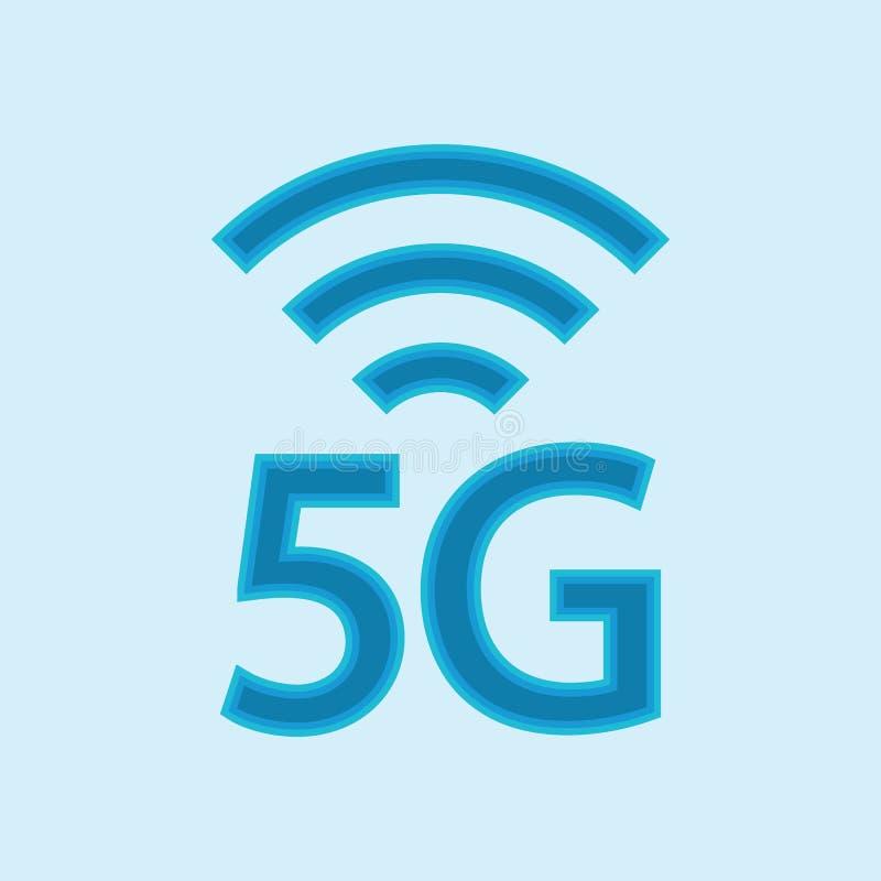 symbol f?r vektor 5G f?r internetn?tverk f?r 5th utveckling tr?dl?s illustration f?r informationsteknik om anslutning mobila appa vektor illustrationer