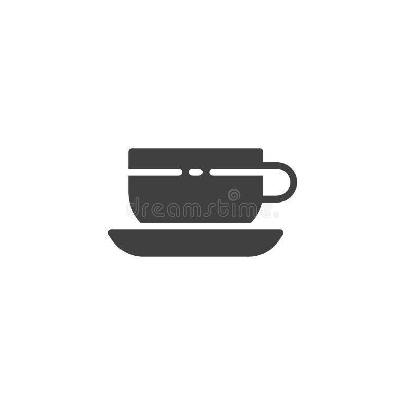 Symbol f?r vektor f?r tekopp royaltyfri illustrationer