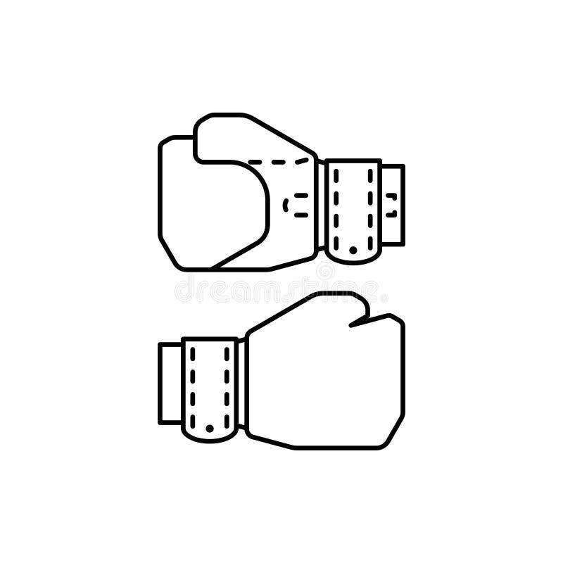 symbol f?r ?versikt f?r boxninghandskar royaltyfri illustrationer