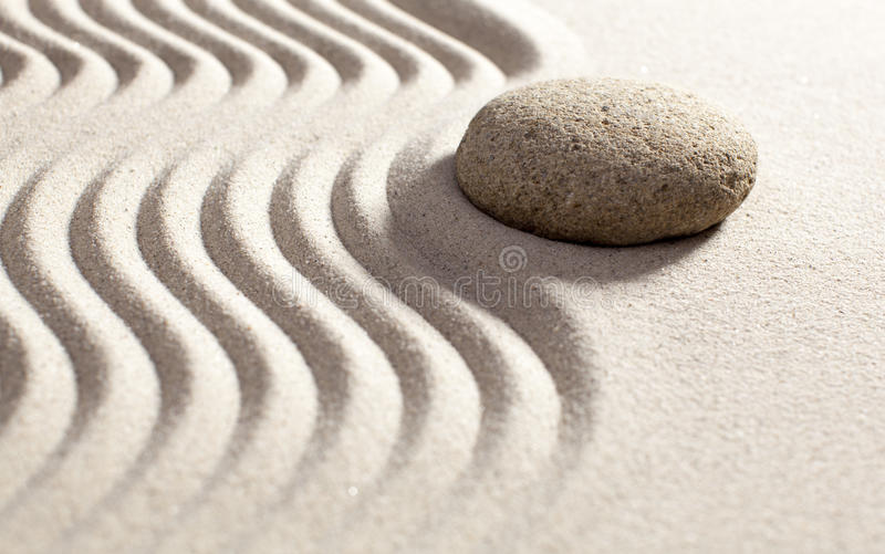 Symbol Of Feng Shui In Sand And Stone Stock Image Image Of