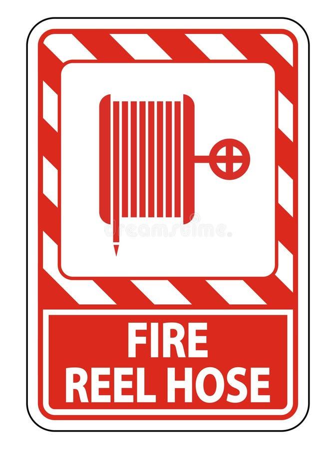 Symbol Fire Reel Hose Sign on white background,Vector llustration. Fire Reel Hose Sign on white background,Vector llustration royalty free illustration