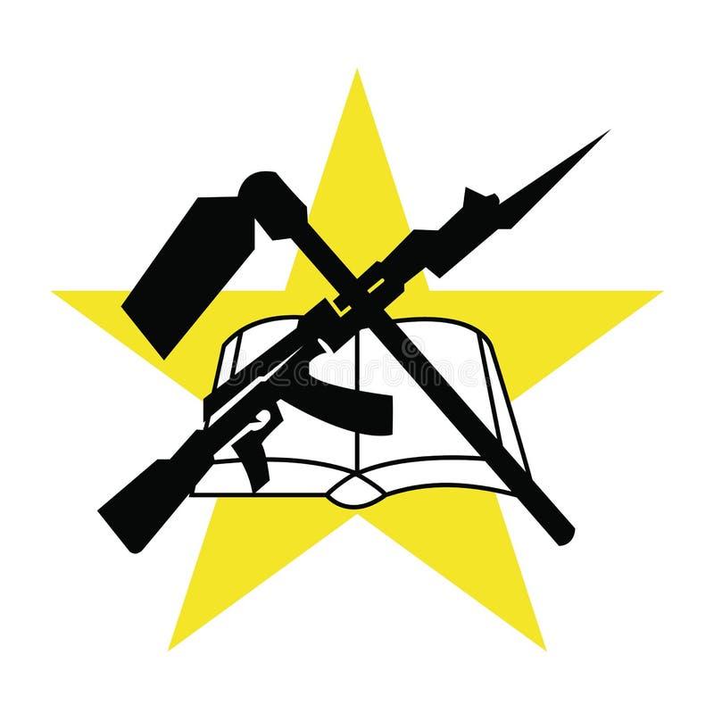 Symbol Flag Of Mozambique Vector Illustration Stock