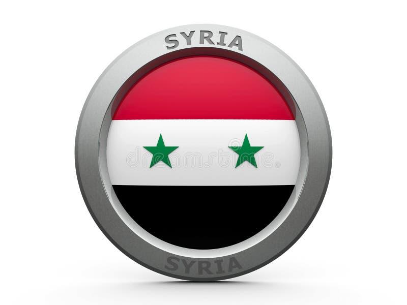 Symbol - flagga av Syrien royaltyfri illustrationer