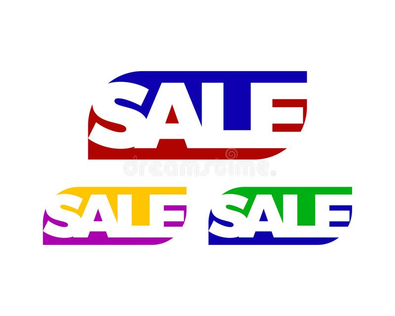 White space sale letter. Is a symbol in the form of a combination of letters stock illustration