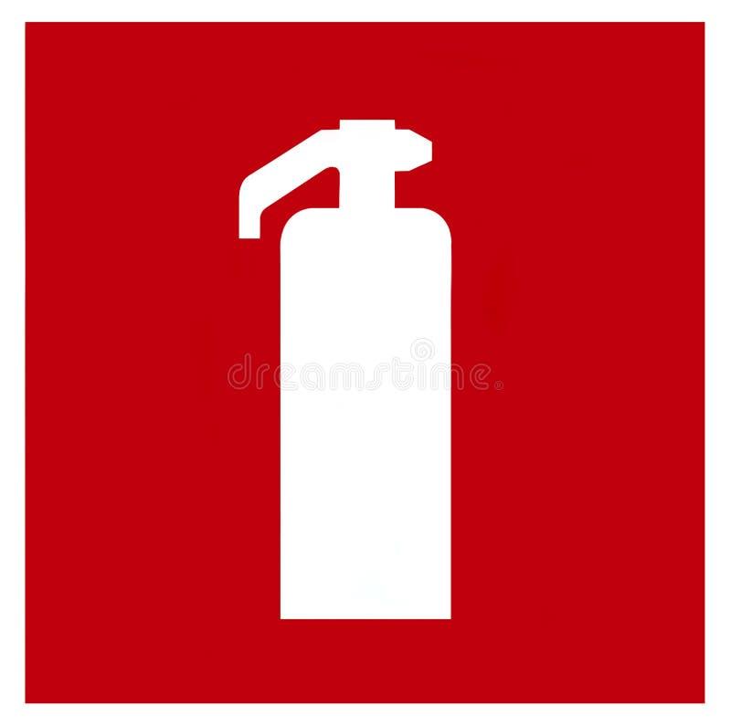 symbol gaśnicę ognia ilustracja wektor