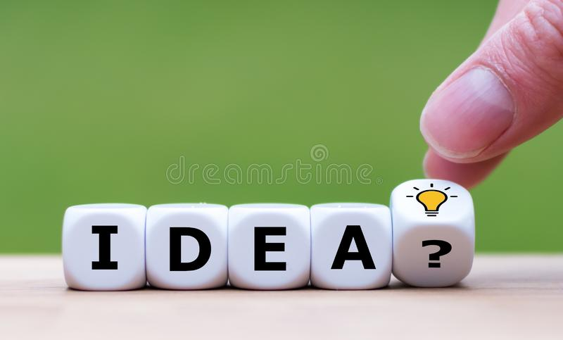 A Symbol of getting a good idea stock image