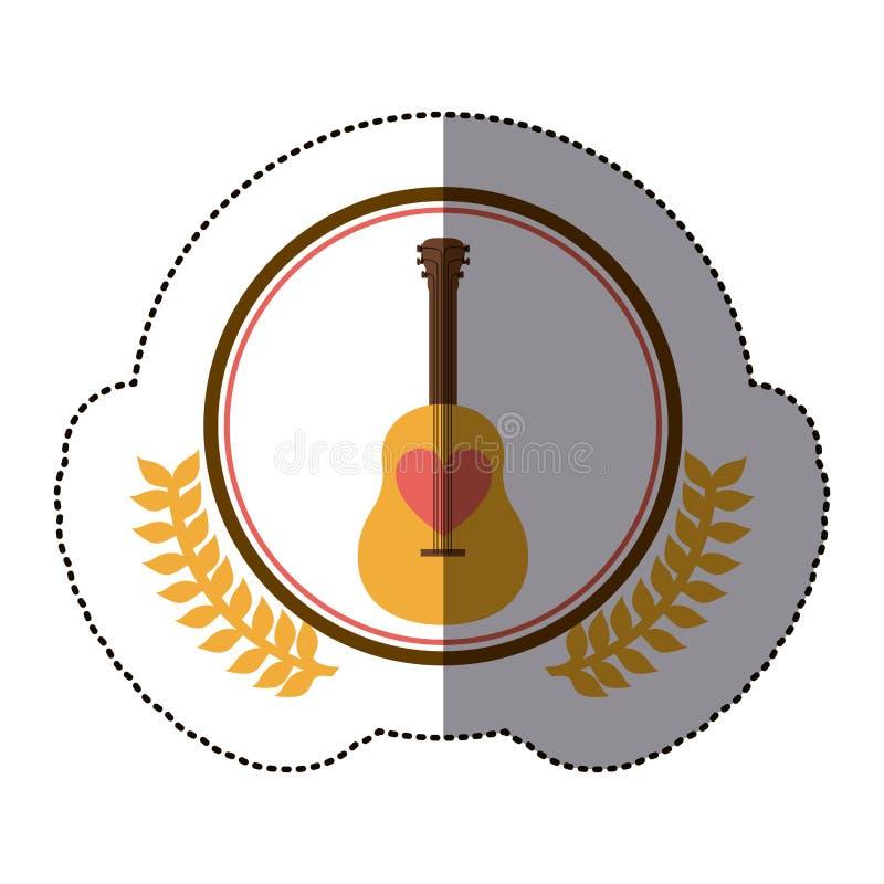 symbol gitary ikony zapas ilustracja wektor