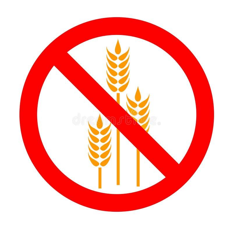 Symbol: Gluten-Free. Prohibition Symbol Gluten-Free/Wheat Free vector illustration