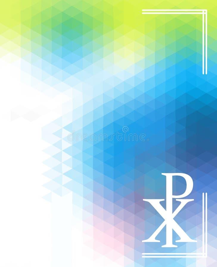 Symbol Of God Silhouette Against Triangular Background Christogram