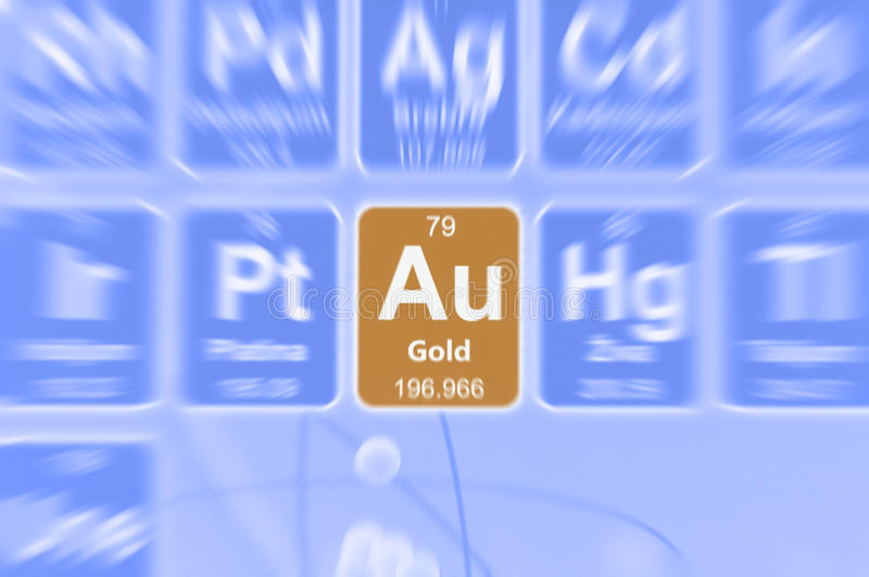 Symbol of gold stock photo image of number defocused 54045532 symbol of gold on the periodic table of elements motion effect urtaz Images