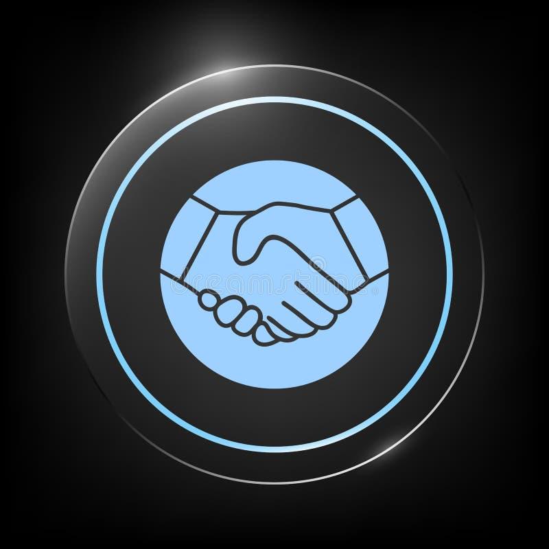 Symbol Of Handshake In Circle Icon Stock Vector Illustration Of