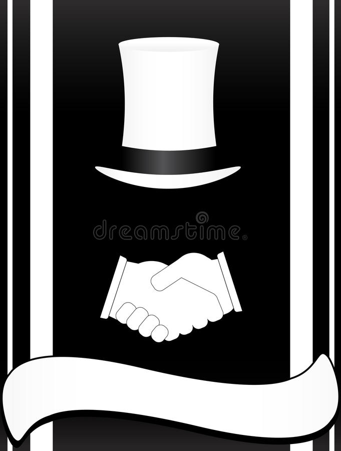 Download Symbol With Handshake And Hat Stock Vector - Image: 20591020