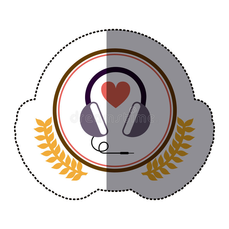 Symbol headphone icon image. Illustration design vector illustration
