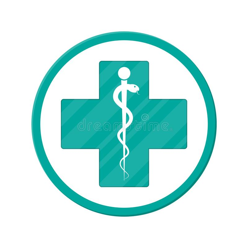 Symbol of healthcare, pharmacy, drug store. royalty free illustration