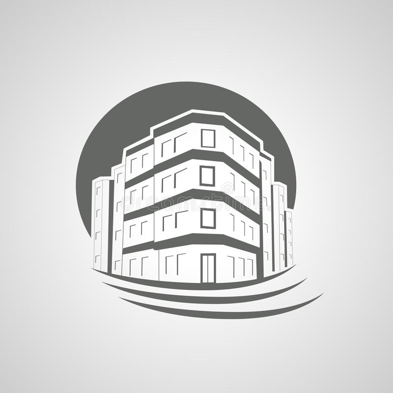 Download Symbol Of Home, House Icon, Realty Silhouette, Real Estate, Apartment Building Stock Vector - Image: 36295341