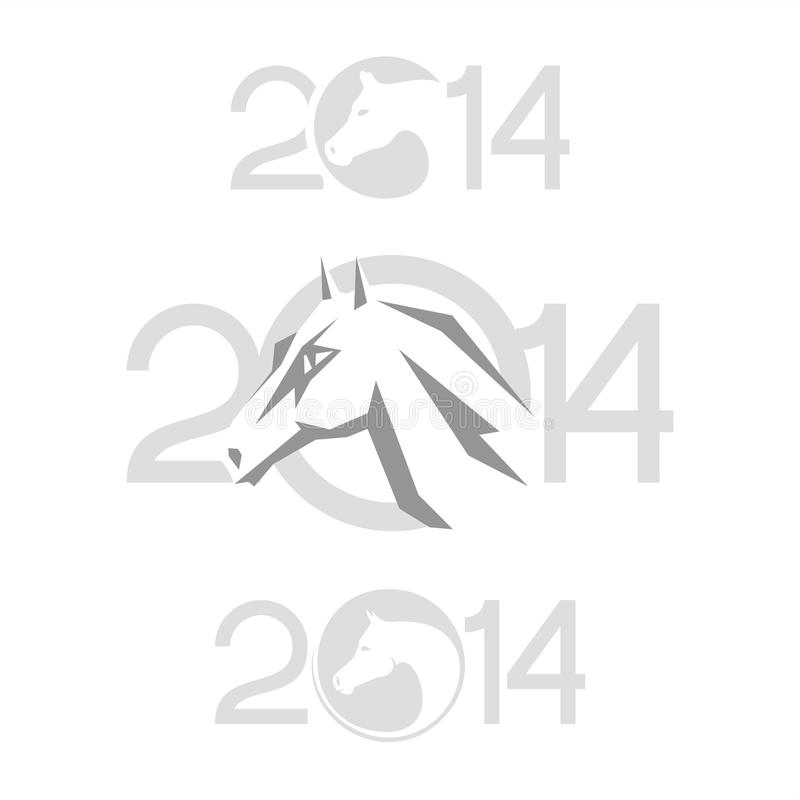 Download Symbol of 2014. Horse stock vector. Image of asian, 2014 - 33088343