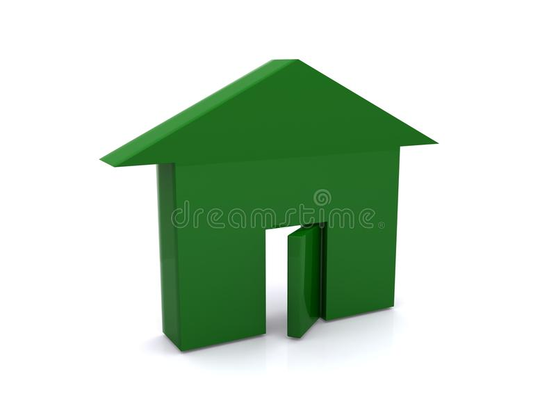 Download Symbol Of House Painted Green Royalty Free Stock Image - Image: 28511676