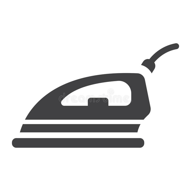 Symbol, hushåll och anordning för elektriskt järn fast stock illustrationer