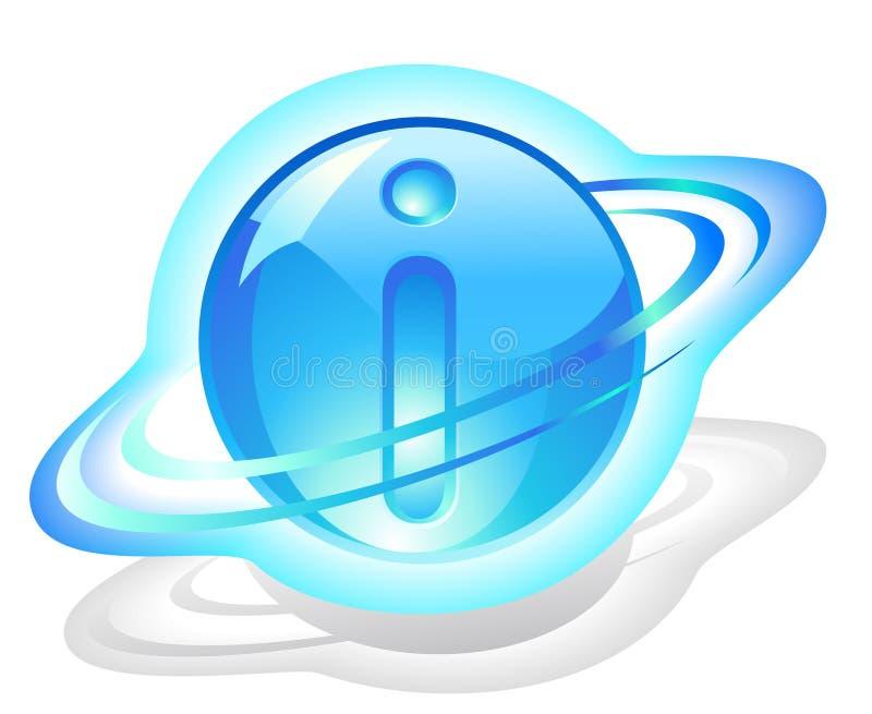 Symbol-Ikone - Partikel der Informationen stock abbildung