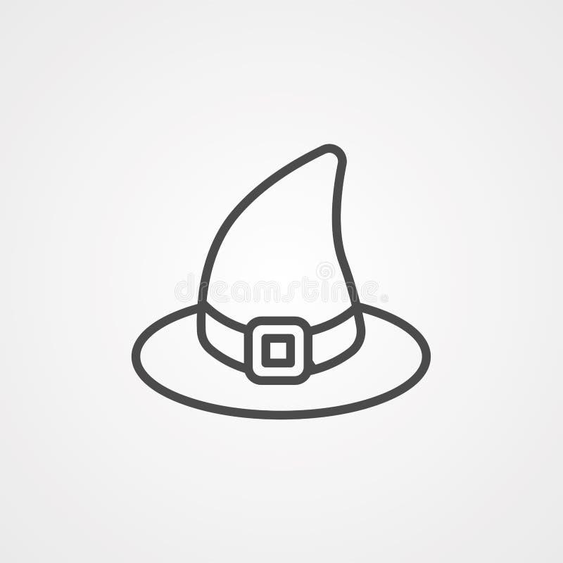 Symbol ikony czapki czarownicy ilustracja wektor