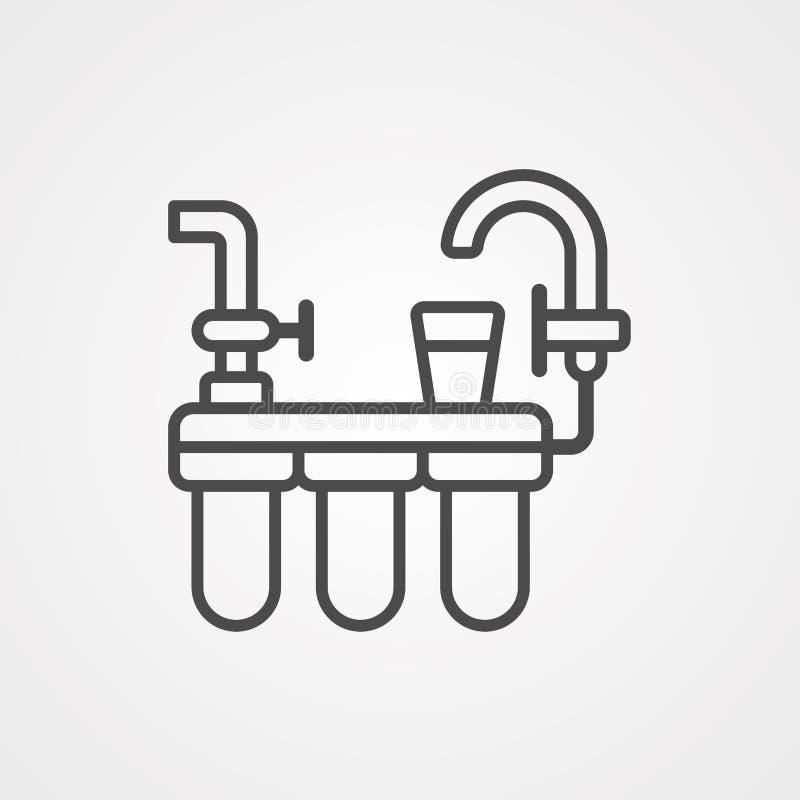 Symbol ikony filtru wody royalty ilustracja