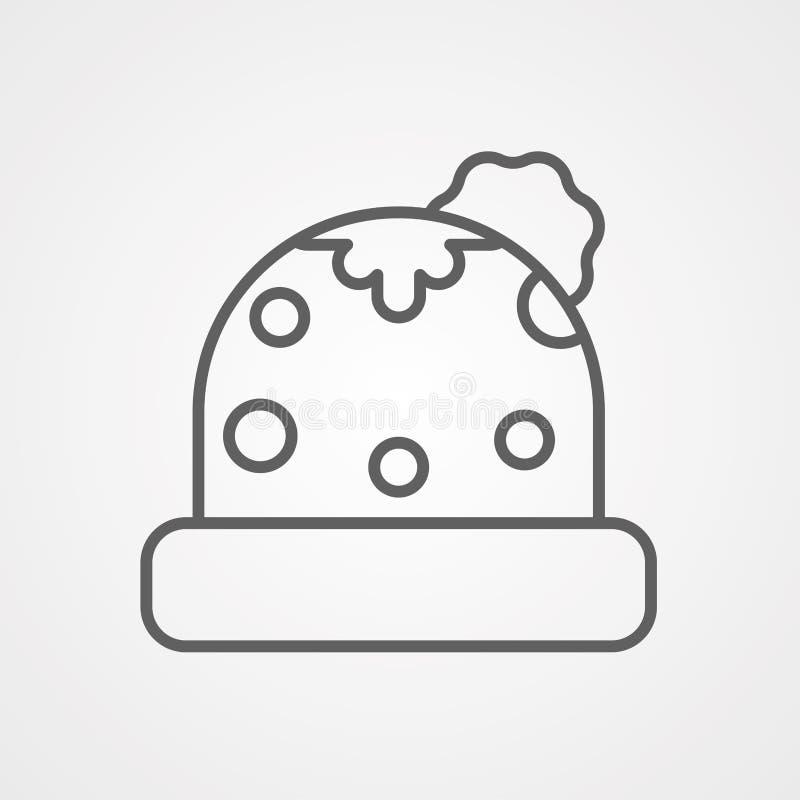 Symbol ikony kapelusza zimowego royalty ilustracja
