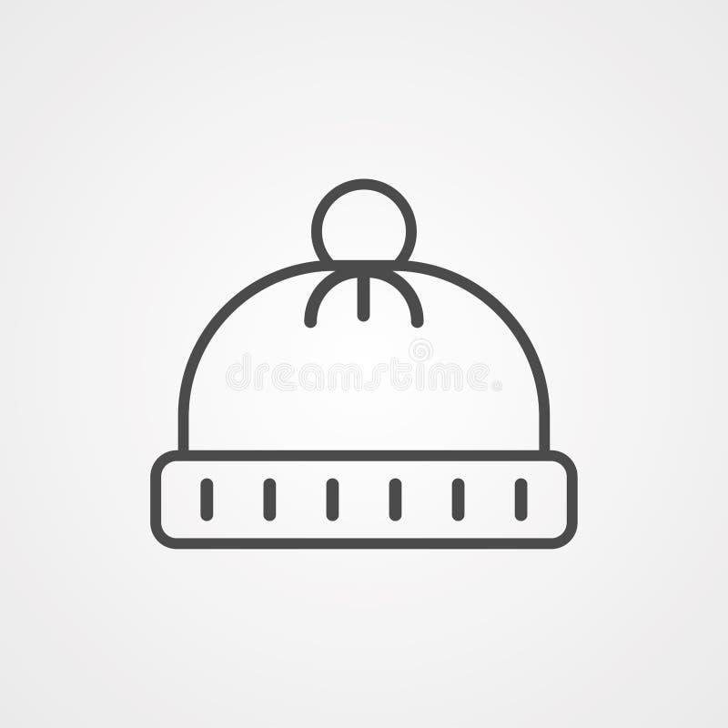 Symbol ikony kapelusza zimowego ilustracji