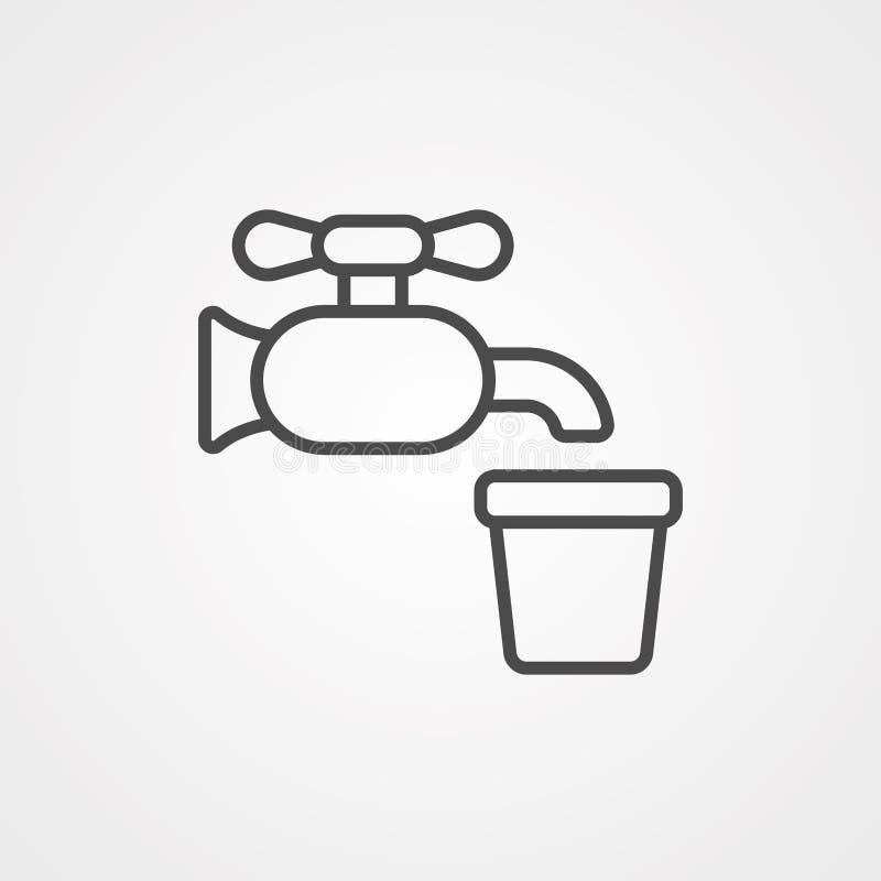 Symbol ikony kranu wodnego ilustracji