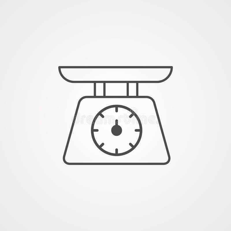 Symbol ikony skali wagi ilustracja wektor