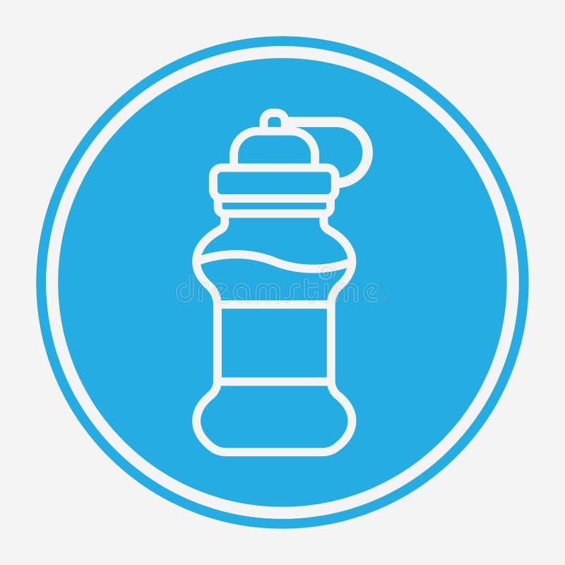Symbol ikony wektora butelki z wodą royalty ilustracja
